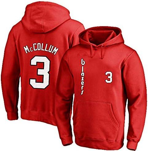 3rd Basketball Hoodie Sweatshirt、Lone Ranger McCOLLUM 3#Spring Sweatshirt、#3 Fan Training Wear Jersey Hoodie