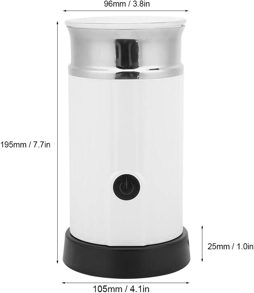 Milchaufsch/äumer 240 ml Vollautomatischer elektrischer Milchaufsch/äumer Lebensmittelsch/äummaschine K/üchenger/äte EU-Stecker 220V-240V Wei/ß