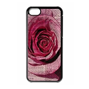 Vintage Flower Watercolor Use Your Own Image Phone Case for Iphone 5C,customized case cover ygtg586778