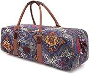 "Yoga Bag, Boence Printed Canvas Large Yoga Mat Tote Bag Sport Gym Storage Bag - Size 27""x"