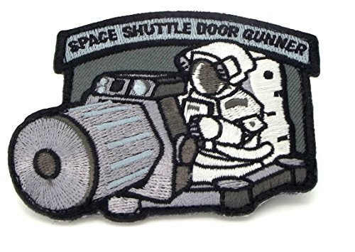 The Tactical Swat Space Shuttle Door Gunner Patch Combat Army Morale Velcro Patch