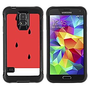 All-Round Hybrid Rubber Case Hard Cover Protective Accessory Compatible with SAMSUNG GALAXY S5 - minimalist red fruit