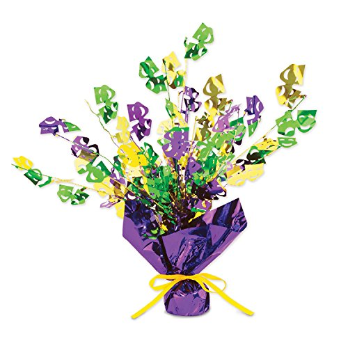 [Mardi Gras Gleam 'N Burst Centerpiece Party Accessory (1 count) (1/Pkg)] (Mardi Gras Decorations)