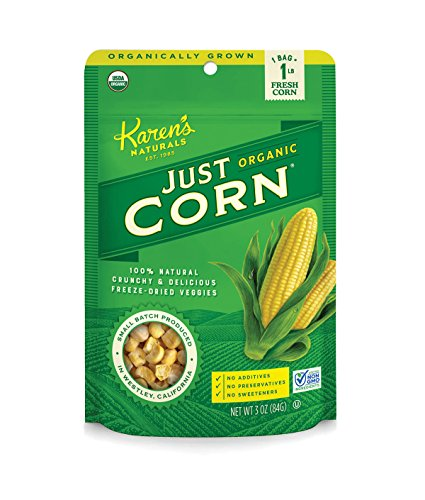 Karen's Naturals Just Tomatoes, Organic Just Corn 3 Ounce Pouch (Packaging May Vary)