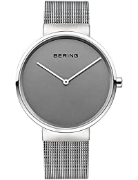 Time 14539-077 Classic Collection Watch with Mesh Band and scratch resistant sapphire crystal. Bering
