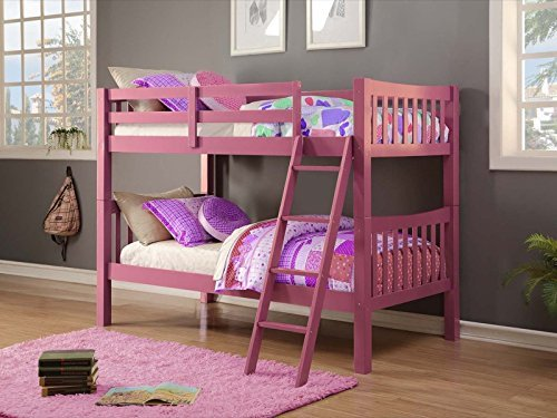Donco Kids 9070TTP Mission Bunkbed, Twin/Twin, Pink ()
