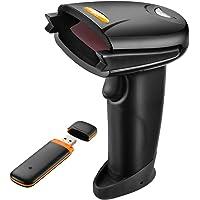 TaoTronics Barcode Scanner 2,4G kabellos oder USB kabelgebunden, Deutsche Tastatur unterstützt