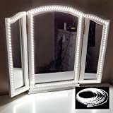 Led Vanity Mirror Lights, Pawaca 13ft/4M 240 LEDs Flexible LED Light Strip Daylight White with Dimmer and Adapter for DIY Makeup Dressing Table, Mirror NOT Included