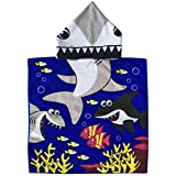 Tiger Shark Poncho Towel with Hood for Baby/Kid Boys Multi-use Bath/Pool / Beach Towels or Robes