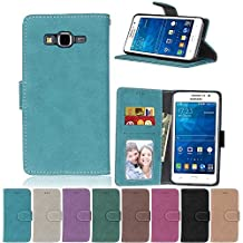 G530 Flip Case, Galaxy Grand Prime case, Samsung Galaxy Grand Prime Case Cover,YiLin PU Leather Flip Folio Wallet Case Cover for Samsung Galaxy Grand Prime - BLUE
