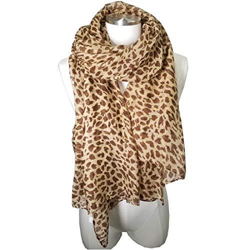 (Leopard Scarf Leopard Print Scarf Animal Print Scarf animal print scarves FLP (1b Leopard Brown) )