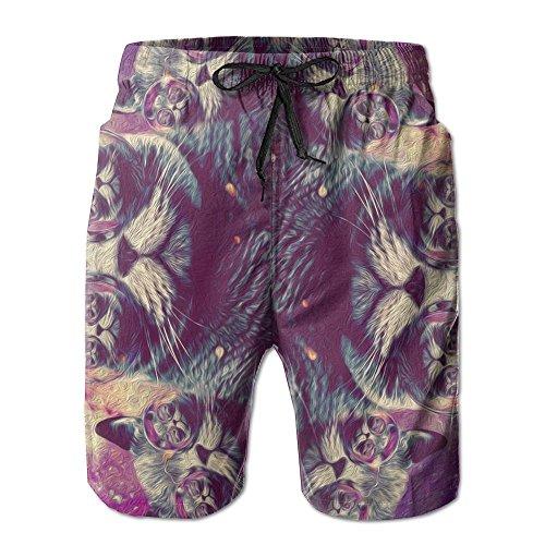 HSGA Sunglasses Cat Is In The Glasses Men's Quick-Dry Beach Pants Casual Borad Beach Shorts Swim - Sunglasses White In Guys