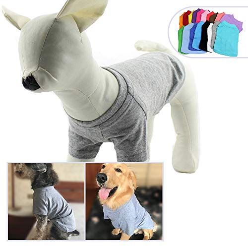 (2018 Pet Clothing Dog Clothes Blank T-Shirt Tee Shirts for Small Middle Large Size Dogs 100% Cotton Dog Tees Classic (XXXXL,)