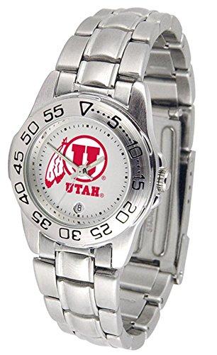 University of Utah Utes Ladies Stainless Steel Wristwatch