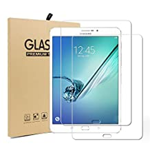 Galaxy Tab S3 9.7 Screen Protector [2 Pack], UCMDA Ultra-thin 2.5D Rounded Edge 9H Hardness Tempered Glass Screen Protector Guard Film for Samsung Galaxy Tab S3 9.7 Inch / Tab S2 9.7 Inch