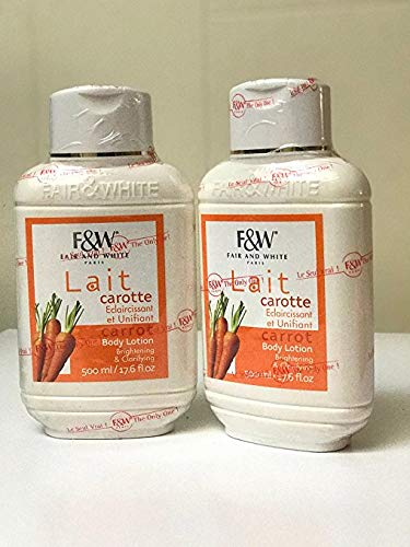 Fair & White Original Carrot Moisturizing Body Lotion with 1.9% Hydroquinone - Brightening & Clarifying, 485ml/ 17.0fl.oz.