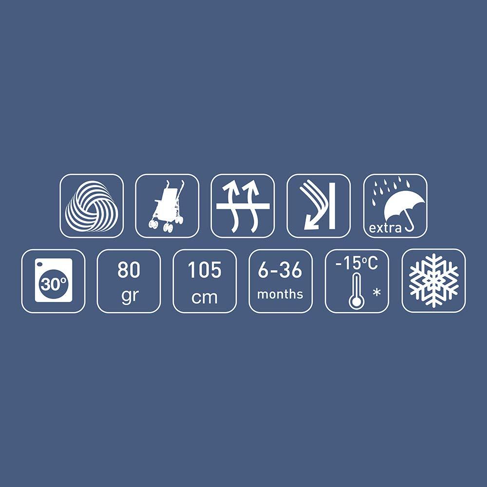 bis -15/°C Fu/ßsack Wasserdicht /& Winddicht Wintersack f/ür 6-36 Monate Kompatibel mit allen Kinderwagen W/ärmeisoliert Universeller Nat/ürlicher Wolle Fusssack Nuvita 9775 Junior Wooly