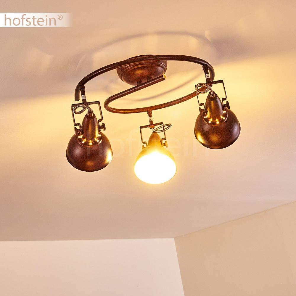 compatible LED 40 Watts max Plafonnier Tina en m/étal noir et blanc spot orientable au style r/étro pour 1 ampoules E14