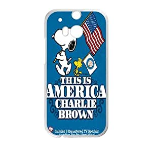 HTC One M8 Phone Case White Charlie Brown and Snoopy ZFC914309