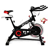 ANCHEER Indoor Cycling Bike, Belt Drive Indoor Exercise Bike with 40LBS Flywheel (Model: ANCHEER-A5001) (Black_Pulse) For Sale