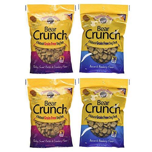 Charlee Bear Grain Free Bear Crunch Dog Treats 2 Flavor Vari