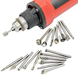TraveT 20pcs HSS Routing Router Bits Burr Rotary Tools Set for Wood Working Tools, Carving, Engraving, Drilling