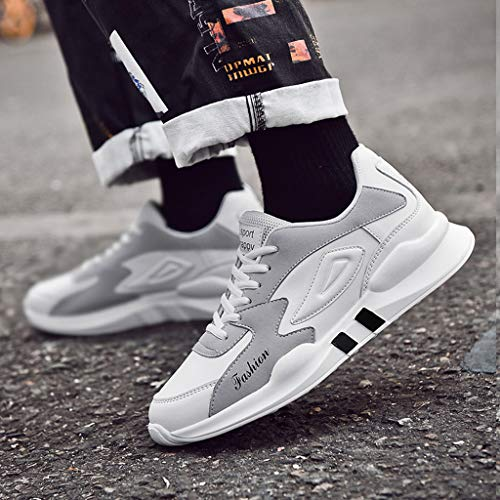 Sneakers Scarpe Estate Lace Pu 2019 Sport Ginnastica Per Ragazzo Running Respirante Pelle Shoes Moda Scarpa Bianco Men Uomo Ihengh Casual Outdoor Breathable up HwdEnaxA1H