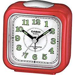 Casio Tq-157-4 Table Top Travel Alarm Clock Red