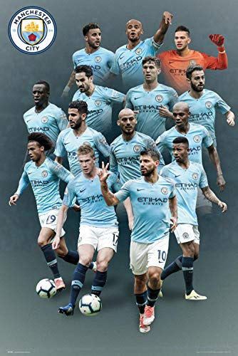 Manchester City - Soccer Poster (The Players - Season 2018/2019) (Size: 24