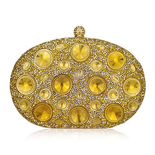 ULKpiaoliang Bags Blue Designer Metal Light Women Party Giant Purse Evening Clutch Crystal silver Wedding Handbag Rhinestones TqrTS