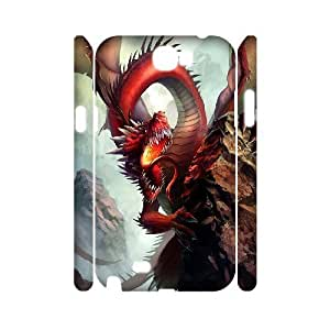 case Of Red Dragon Customized Hard Case For Samsung Galaxy Note 2 N7100 by icecream design