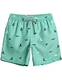 25a10ba1b0a67 Mens Boys Short Swim Trunks Mens Bathing Suits Slim Fit Swim Shorts Quick  Dry Swimsuit for