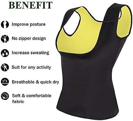 Pu-ai Women Neoprene Sauna Waist Trainer Corset Vest Hot Sweat Shirt Vest Sauna Vest Body Shape for Weight Loss
