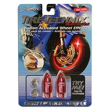 Amazon.com: Street FX 1042189 Tire Technix Moto Ballistics Red Light ...