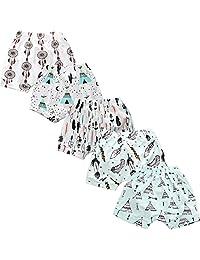 LOOLY 5 PCS Pack Unisex Baby Boys Girls Cotton Shorts