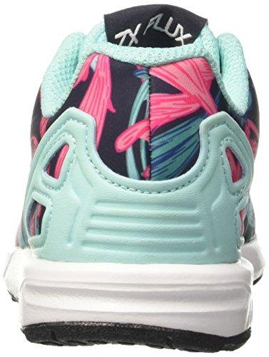 adidas ZX Flux C, Zapatillas de Gimnasia Unisex Niños, Multicolor (Energy Aqua F17/Energy Aqua F17/Ftwr White), 32 EU