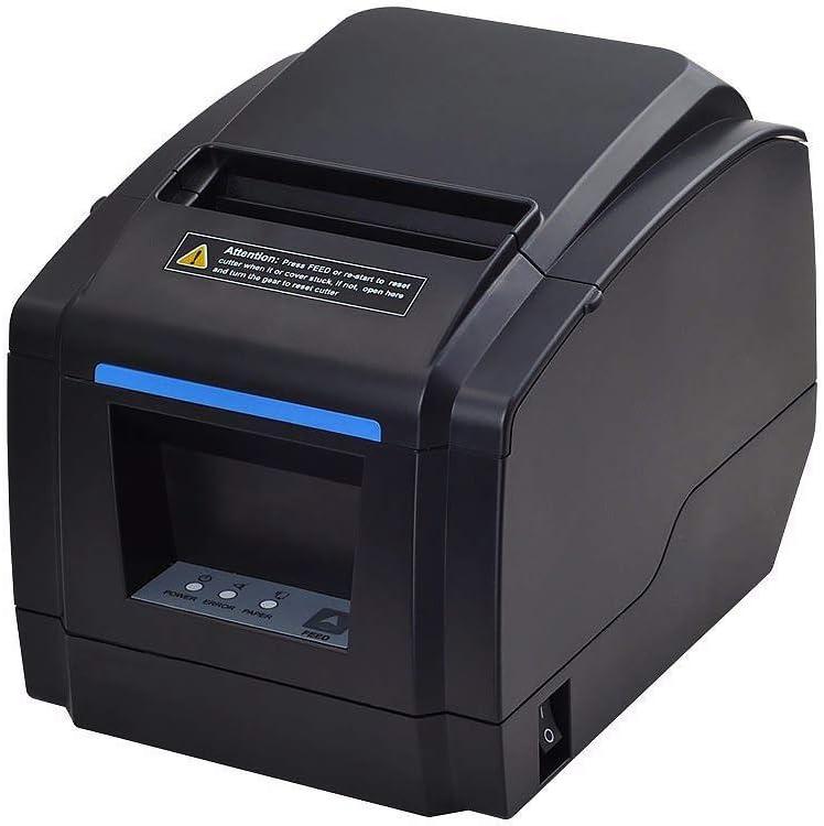 [Versión 2.0] MUNBYN Impresora de Ticket Térmica de de Cocina Escritorio Recibos de 80mm, Tiketera de Ticket, USB Ethernet Serial ESC/POS para Windows, Negra [Soporta IAP Actualizar Online]