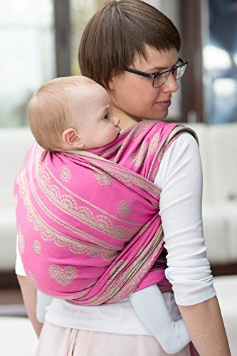 Amazon Com Lenny Lamb Candy Lace Woven Baby Carrier Baby Wrap