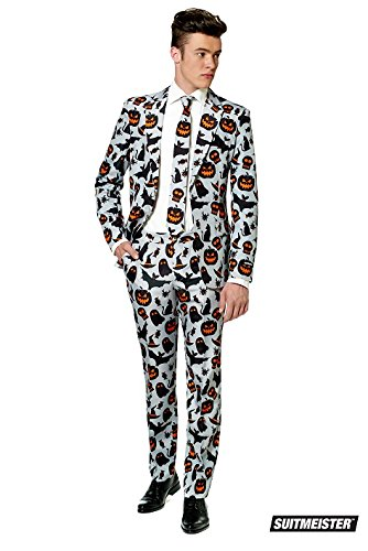 Halloween Suits (SuitMeister Halloween Icons Grey Suit Medium)