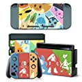Nintendo Switch Controller Cover Skin Set for Console Dock Joy Con Vinyl Decal Sticker Protector by BR