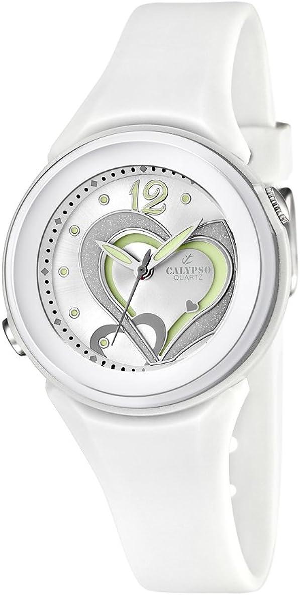 Calypso Reloj Analógico para Chica de Cuarzo con Correa en Silicona K5576/1