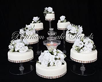 8 Tier Cascade Wedding Cake Stand With Fountain Set STYLE 9