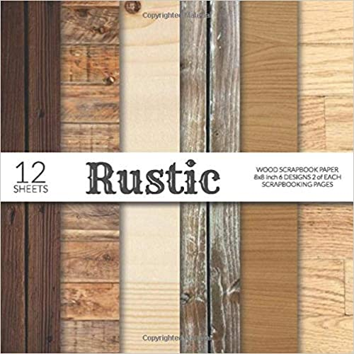 For Papercraft Cardmaking Collage Sheets Wood Background Flat Lay Decorative Craft Papers Rustic Wood Scrapbook Paper 8x8 Inch Scrapbooking Pages