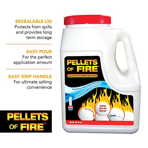 Pellets of Fire CP9 Snow & Ice Melter Calcium Chloride Pellets 9-Pound Jug ()