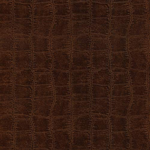 Brewster 412-56905 20.5-Inch by 396-Inch Leather Textured Depth Wallpaper, Brown