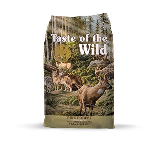 Taste of the Wild Grain Free High Protein Real Meat Recipe Pine Forest Premium Dry Dog Food (Taste Of The Wild Salmon Dog Food)