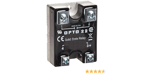 3 Amp 1//2 Cycle Maximum Turn-On//Off Time 240 VAC Opto 22 240D3 DC Control Solid State Relay 4000 V Optical Isolation 25-65 Hz Operating Frequency