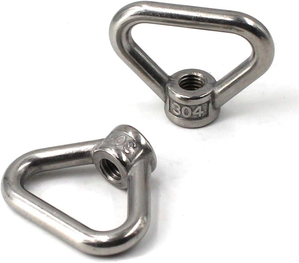 304 Stainless Steel Eye Nut M10 Triangle Ring Shape Lifting Eye Nut Set Threaded Nut Fastener 6PCS
