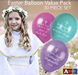 Christian Celebration with Baptism Balloons, Holy Communion Balloons for Bible School, Church Events, Easter (Heavens Collection)