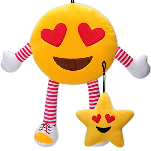 oy Home Party Decorations Baby Dollhouse Supplies Favors , Stuffed Cushion Plush Doll Toys with Arms & Legs,Kids Star Novelty School Rewards Gifts (Heart Eyes) (Baby Arm Leg)